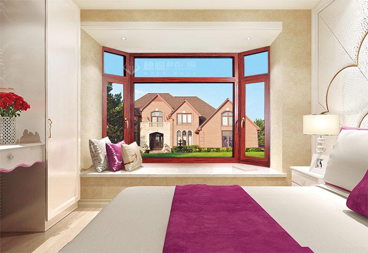 穗福门窗--108断桥窗纱一体-红酸枝-