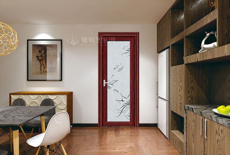穗福门窗--88金弧平开-小叶紫檀+