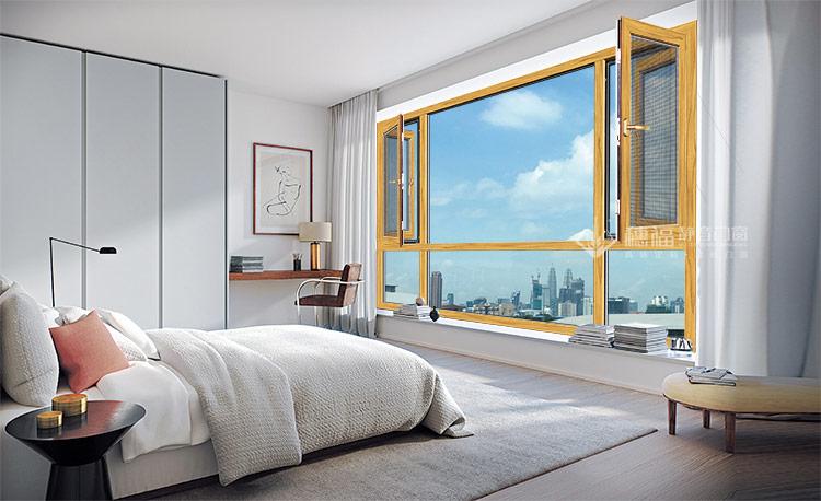 穗福门窗-断桥窗纱一体平开窗-(1)