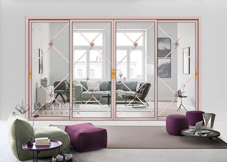 穗福门窗--金品平开门4-氟碳紫金