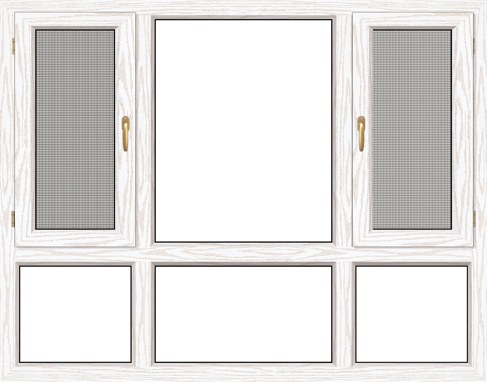 120断桥窗纱一体平开窗(图1)
