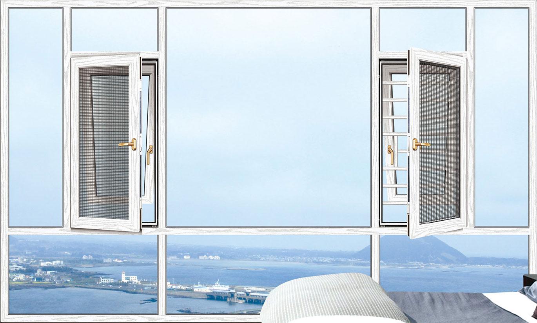 108断桥窗纱一体平开窗