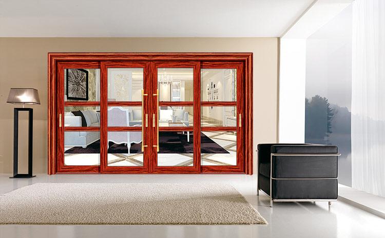 穗福门窗--100重型推拉门4-红酸枝-x